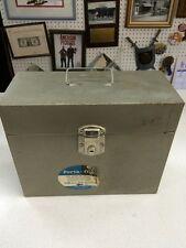 Mid Century industrial metal storage file box vintage scrapbooking 12.5x10 Craft