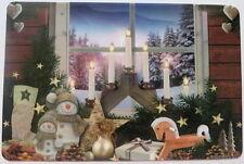 1 Tischset Weihnachten Advent  Weihnachtsfenster Schwibbogen Kerzen  Platzset