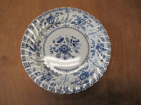 "Johnson Brothers England INDIES Dinner Plate 9 3/4"" Blue   4 available"