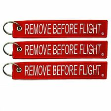 3 Pack Remove Before Flight Key Chain aviation truck motorcycle pilot