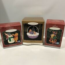 Hallmark Winnie The Pooh Ornament Lot Christmas Tree Tigger Piglet Holiday BOX