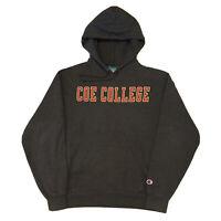Vintage 90s Champion Hoodie Mens Medium Coe College University Gray Pullover OG