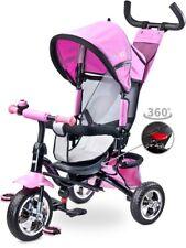 Timmy Pink Dreirad für Kinder Fahrrad Kinderwagen Kinderdreirad 360°