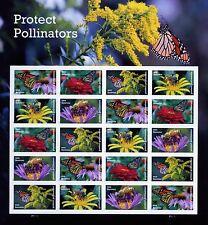 PROTECT POLLINATORS.-   souvenir sheet   >U.S.A.  MNH-adhesive  2017