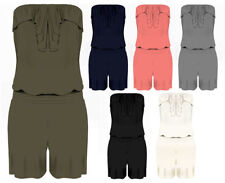 Viscose Bandeau Patternless Jumpsuits & Playsuits for Women