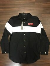 HUDSON OUTERWEAR PRISON INMATE DRESS BUTTON UP SHIRT MENS LARGE NEW NWT