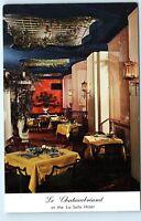 La Salle Hotel Chicago Illinois Le Chateaubriand Restaurant Vintage Postcard C64