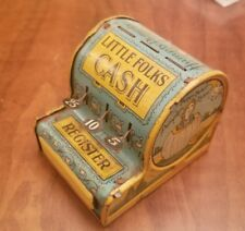Antique Tin Little Folks Cash Register Humpty Dumpty Old King Cole New York US