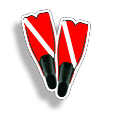 Scuba Diving Fins Car Truck Window Bumper Sticker Cup Laptop Graphic Diver Down