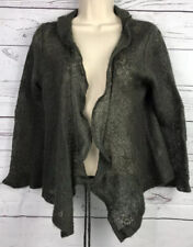 Anthropologie C. C. Outlaw  Sheer Cardigan wrap tie Large L Military Green Boho