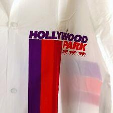 2 New Hollywood Park Horse Racing Button Down Rain PVC Coats Men XL Boy L