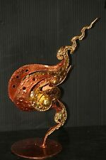 CANDLE HOLDER STAND gold long stem tea light Thai votive incense spa decor ZEN