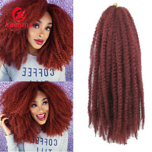 """18"""" Afro Maley Braids Kinky Curly Weft Crochet Braiding Synthetic Hair Extension"""