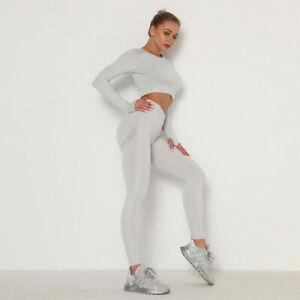Women's Yoga Suit High Waist Slimming Tight-fitting Sport Fitness Two-piece Suit