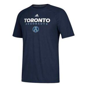 Toronto Argonauts CFL Adidas Men's Navy Blue Sideline Climalite T-Shirt