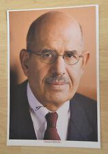 ORIGINAL Autogramm von Mohamed El´Baradei pers. gesammelt. 100% Echt. 20x30 Foto