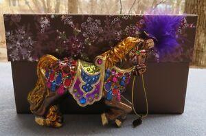 Jay Strongwater Carousel Horse Ornament Swarovski Elements New Box