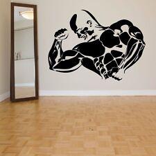 Sport Gym Bodybuilding Fitness Wandtattoo Wallpaper Wand Schmuck 55 x 77 cm