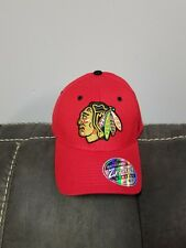 5278d0e3ad6 New Zephyr Chicago Blackhawks Hockey NHL Hat Cap Stretch Fit M L Fit up to