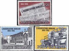 Vatikanstadt 375-377 (compleet.Kwestie) gestempeld 1961 Vaticaanse krant
