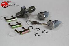 74-77 Chevy Camaro Door Trunk Lock Kit Long Cyllinders Oval Round Head Keys New