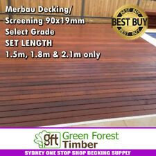 Merbau Decking/Screening 90x19mm Select Grade SET LENGTH 1.8m & 2.1m only
