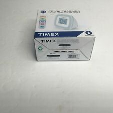 Timex Color Changing Travel Dual Alarm Clock Battery Powered