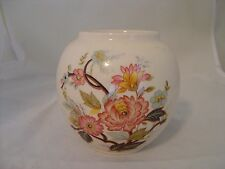 Vintage Sadler Round Vase Pink And Blue Floral Design Made In England