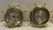 Seth Thomas Ship's Clock & Barometer ~ Helmsman ~ E537-001 & E537-011 ~ Works!
