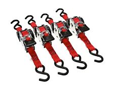 "Erickson 04418 Pro Series Red 1"" x 10' Retractable Ratcheting Tie-Down Strap,..."