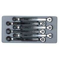 6pc Brake Line Hydraulic Pipe Spanner Wrench Set Open Ended Hex Square Ends