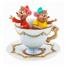 More details for disney store gus and jaq trinket ceramic jewellery dish cinderella teacup saucer