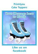 ND2 azul chicos de patinaje de rodillo personalización guinda de topper de la torta cuadrada