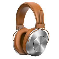 Pioneer SE-MS7BT retro inspired Bluetooth Headphones in Tan and Silver