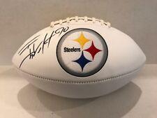 TJ WATT Signed Pittsburgh Steelers white panel Logo Football COA/Hologram