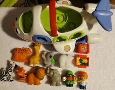 Little People Lot: Talking Airplane, Zoo Animals/keeper,food,boy,luggage, 13 pcs