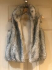 Modo Fuax Fur Gillet Grey And White Size 10