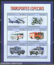 MOZAMBIQUE  2013  SPECIAL TRANSPORT  VEHICLES  SHEET MINT NH