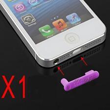 Stopper Antipolvere Doppio Cuffie Dock Anti Dust Viola per Iphone 5 5G 5S 5C SE