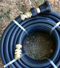 "20M FIRE REEL HOSE 3/4"" Brass Fittings & Fire Nozzle 19MM I.D Australian Made!"