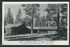 Sharp CA Al Tahoe RPPC 1940's BYRD'S LAKEWOOD COURT MOTEL by Frashers of Pomona