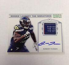 Robert Turbin 2012 National Treasures NFL  Rookie Laundry TAG 8/10