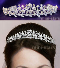 Bridal Wedding Flower Tiara use Swarovski Crystal T1059
