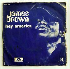 BROWN James Vinyle 45T SP HEY AMERICA F Reduit  RARE