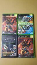 Halo Lot Original Xbox, 4 Games, All Complete Cib Vg condition