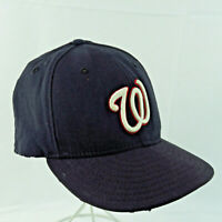 New Era 59Fifty Washington National Black Hat Fitted 7 3/8 Cap Authentic Coll.