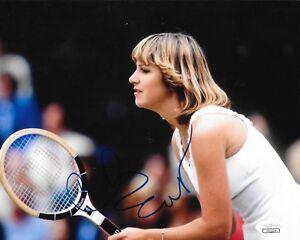 Chris Evert signed Womens Tennis 8x10 photo Wimbledon Grand Slam Champion 6 JSA