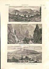 Bulgarie Guerre des Balkans Sofia & Mont Vitocha Izgorizgrad Vratsa GRAVURE 1885