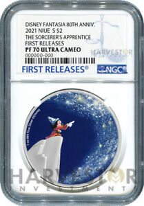 DISNEY FANTASIA 80TH ANNIVERSARY SORCERER'S APPRENTICE - NGC PF70 FIRST RELEASE