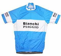 BIANCHI PIAGGIO RETRO VINTAGE PRO CYCLING TEAM SHORT SLEEVE SUMMER BIKE JERSEY